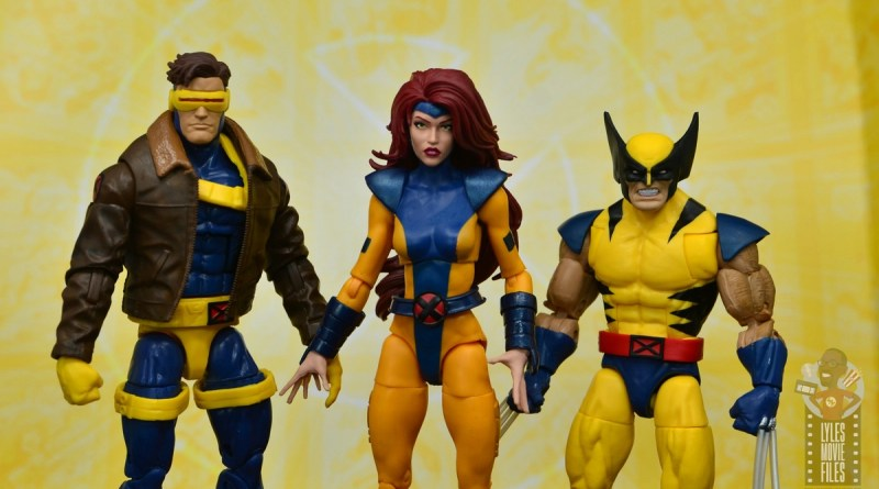 marvel legends cyclops, jean grey and wolverine set review - main pic