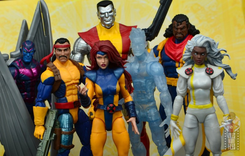 marvel legends cyclops, jean grey and wolverine set review - with archangel, forge, colossus, iceman, bishop and storm