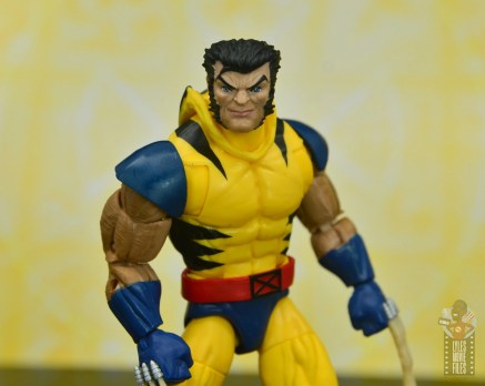 marvel legends cyclops, jean grey and wolverine set review - wolverine unmasked head
