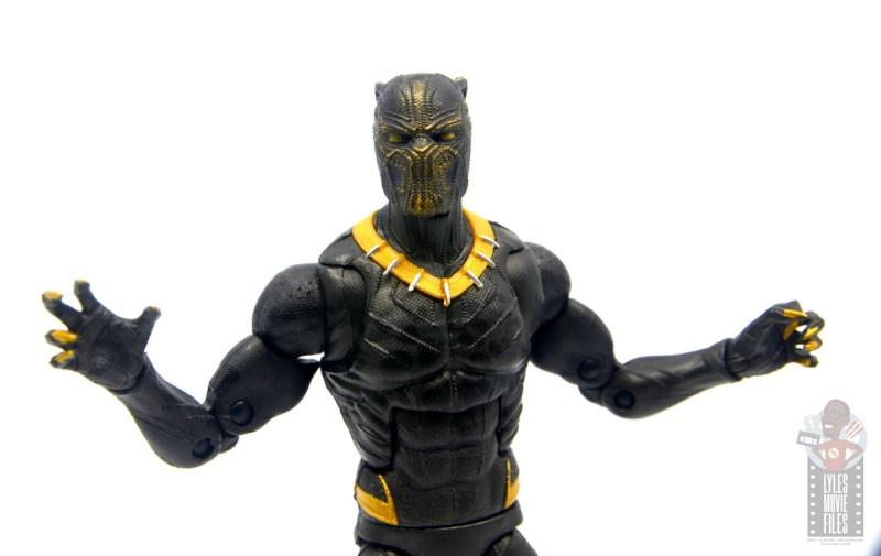 marvel legends erik killmonger figure review - chest detail