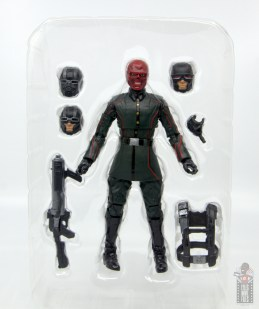 marvel legends marvel studios 10 years red skull figure review - accessories in tray