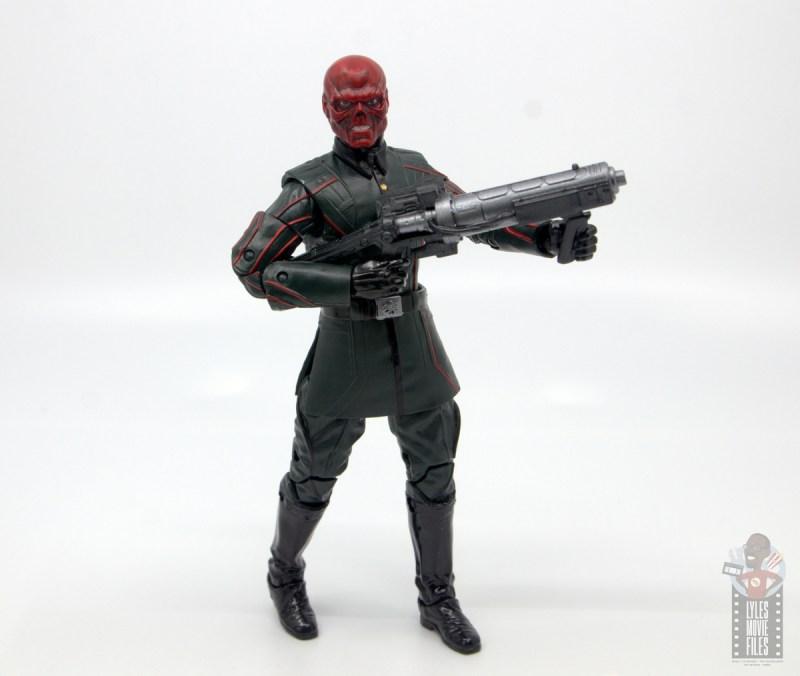 marvel legends marvel studios 10 years red skull figure review - holding gun