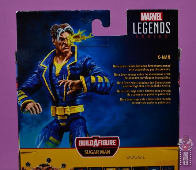marvel legends x-man figure review - package bio