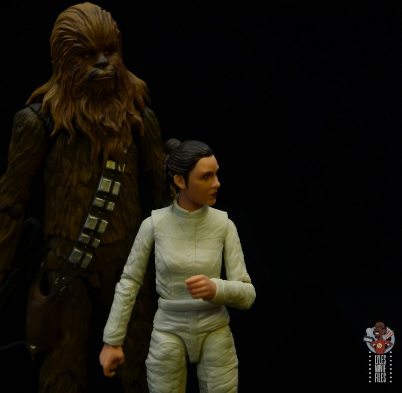 star wars the black series princess leia bespin escape figure review - with chewbacca