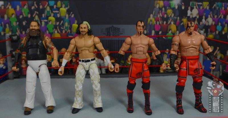 wwe elite wrestlemania woken matt hardy figure review - scale with bray wyatt and ascension