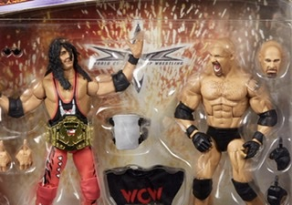 Wwe elite Bret Hart vs Goldberg figures