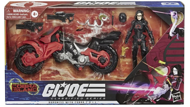 Hasbro G.I. Joe Classified Series Cobra Island Target Exclusives - baroness with cobra coil