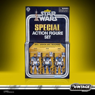Star Wars The Vintage Collection Star Wars The Clone Wars 501st Legion ARC Troopers Figure 3-Pack - in pck