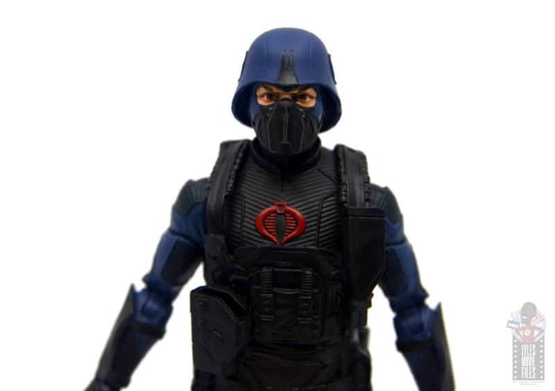 gi joe classified cobra trooper figure review -eyes and vest detail