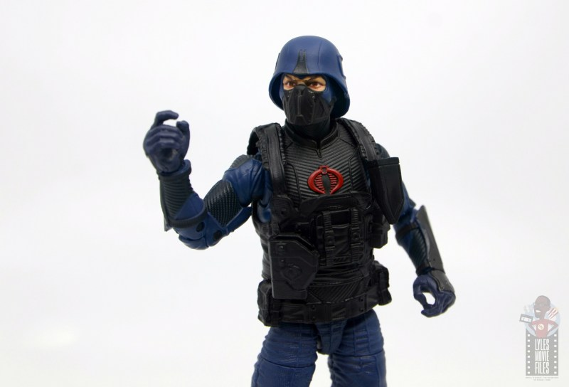 gi joe classified cobra trooper figure review - raising fist