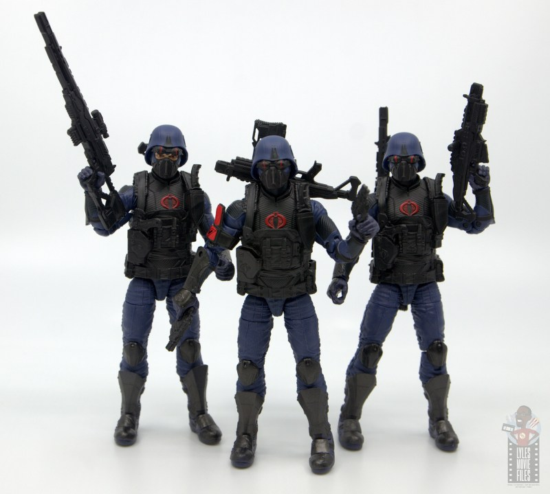 gi joe classified cobra trooper figure review - trio of troopers armed up