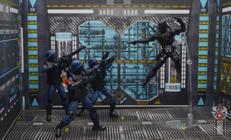 gi joe classified cobra trooper figure review - vs snake eyes 1