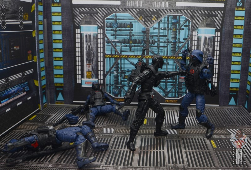 gi joe classified cobra trooper figure review - vs snake eyes 4