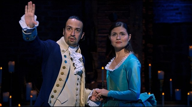 hamilton review - lin-manuel miranda and phillipa soo