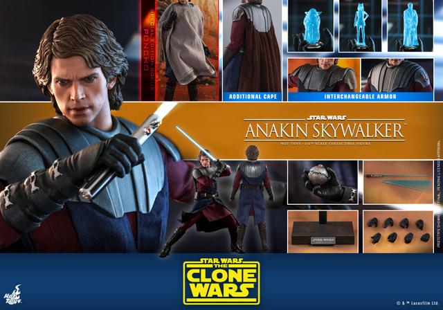 hot toys anakin skywalker clone wars figure - collage
