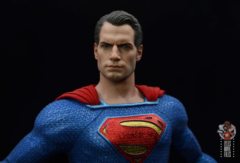 hot toys justice league superman figure review - headsculpt close up