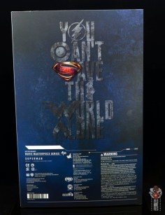hot toys justice league superman figure review - package rear