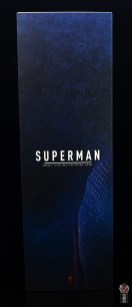 hot toys justice league superman figure review - package side