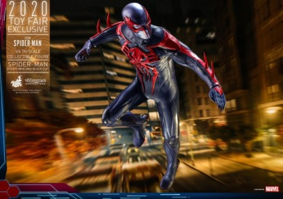 hot toys spider-man 2099 figure - in the city