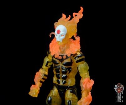 marvel legends age of apocalypse sunfire figure review - close up left side