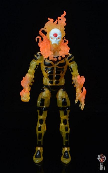 marvel legends age of apocalypse sunfire figure review - front