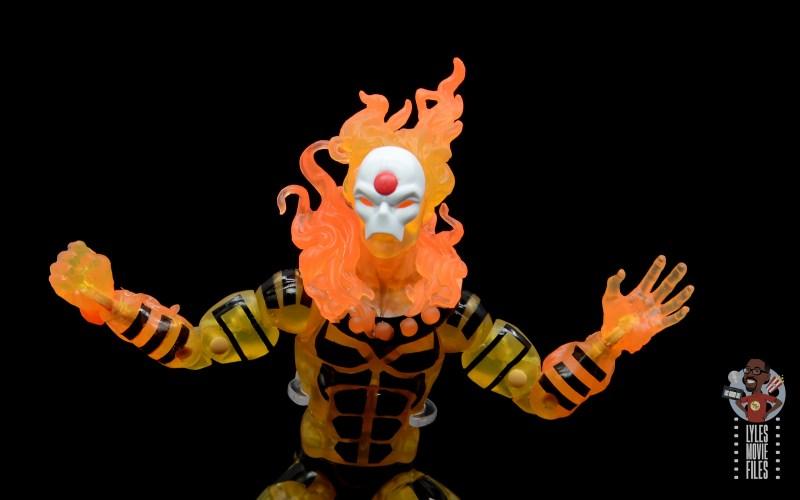 marvel legends age of apocalypse sunfire figure review - headsculpt detail