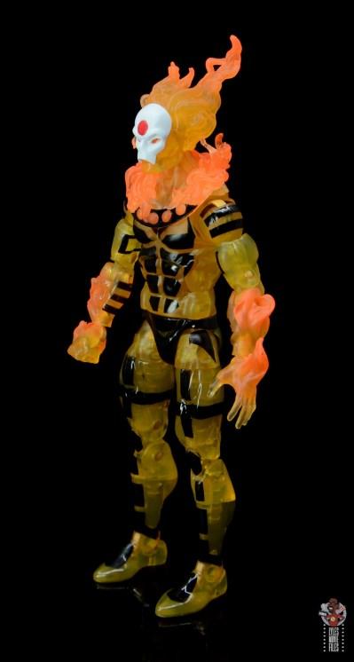 marvel legends age of apocalypse sunfire figure review - left side