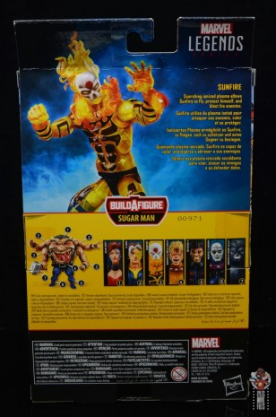 marvel legends age of apocalypse sunfire figure review - package rear