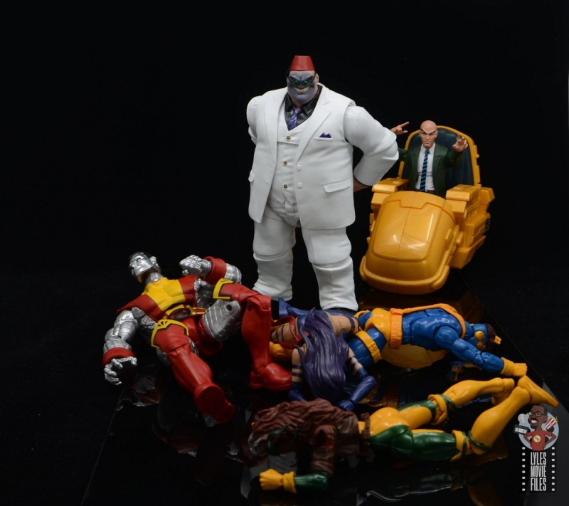marvel legends build-a-figure shadow king figure review -defeated the x-men