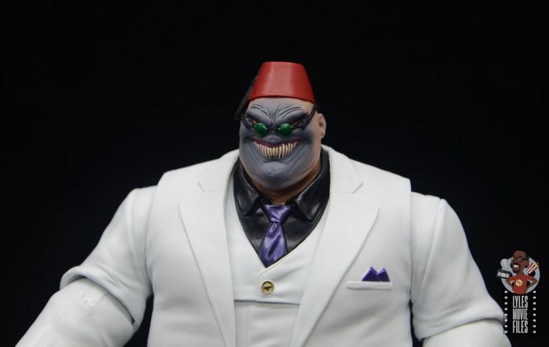 marvel legends build-a-figure shadow king figure review - head sculpt close up