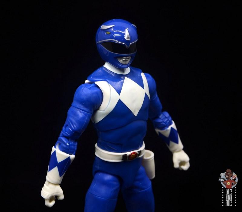 power rangers lightning collection blue ranger figure review - close up