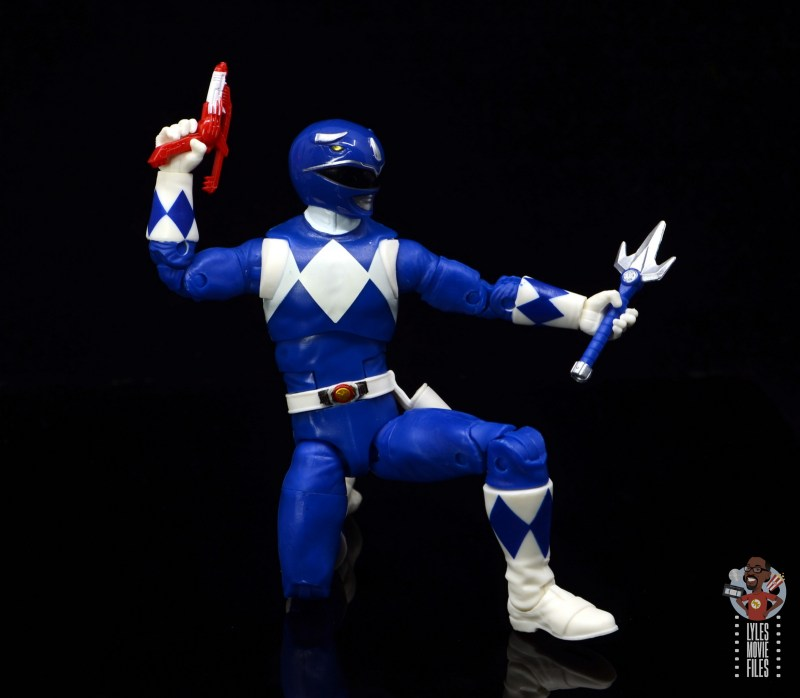 power rangers lightning collection blue ranger figure review - on one knee