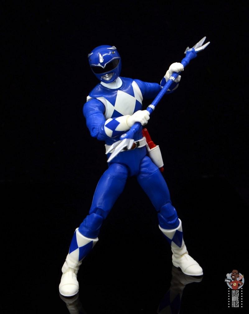 power rangers lightning collection blue ranger figure review - power lance