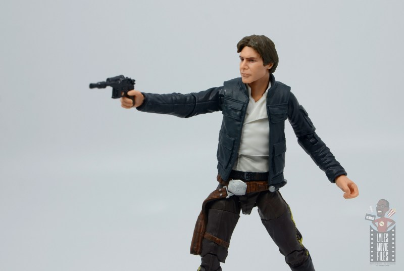 star wars the black series han solo figure review - aiming blaster