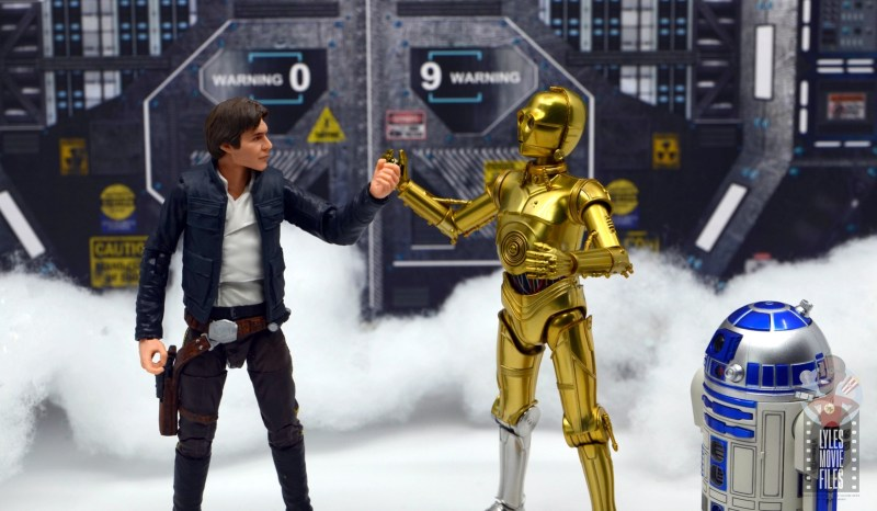 star wars the black series han solo figure review - arguing with c3p0