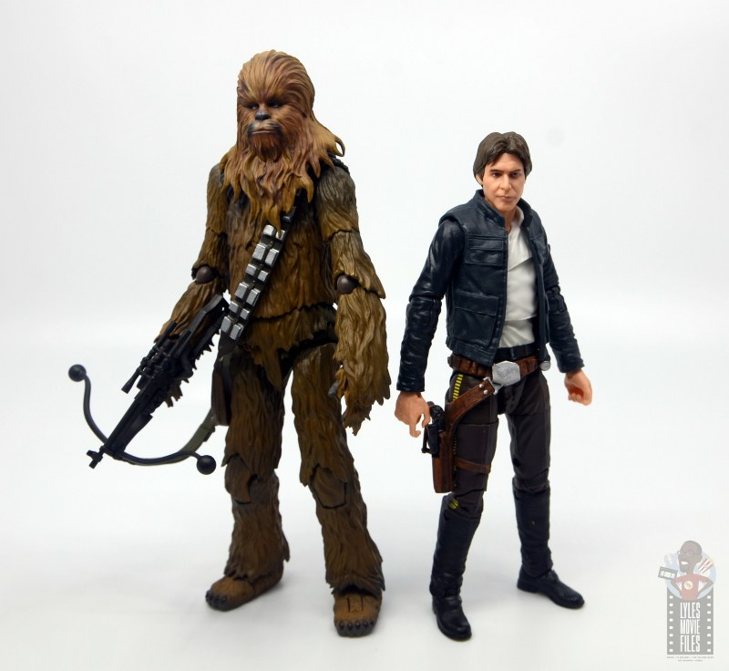 star wars the black series han solo figure review - back to back with chewbacca