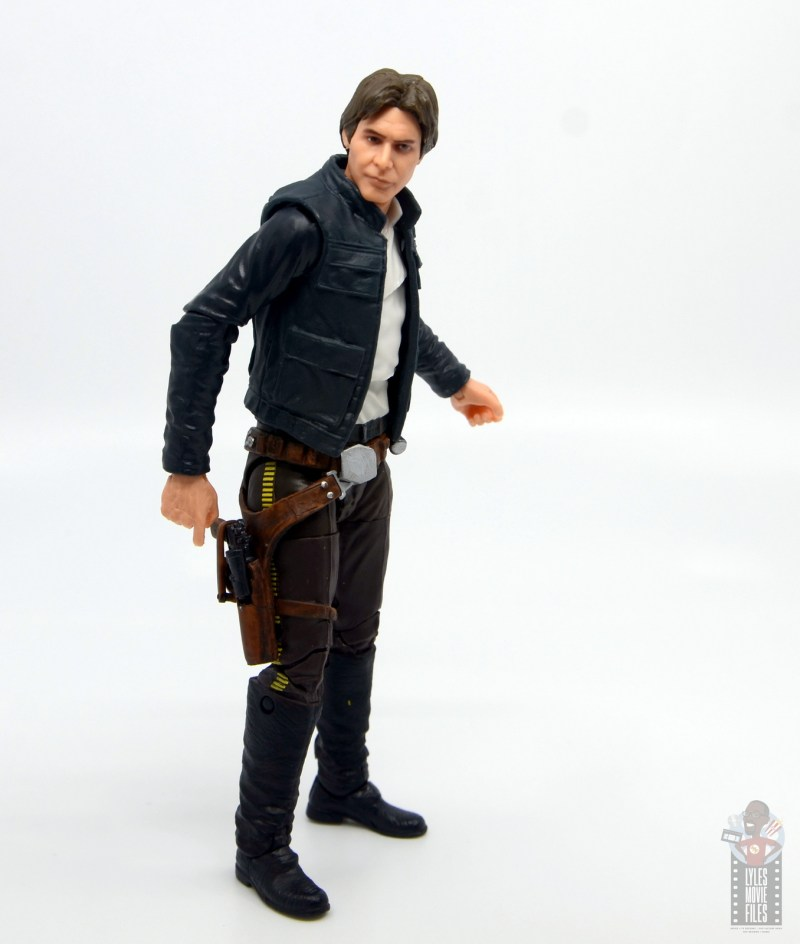 star wars the black series han solo figure review - reaching for blaster