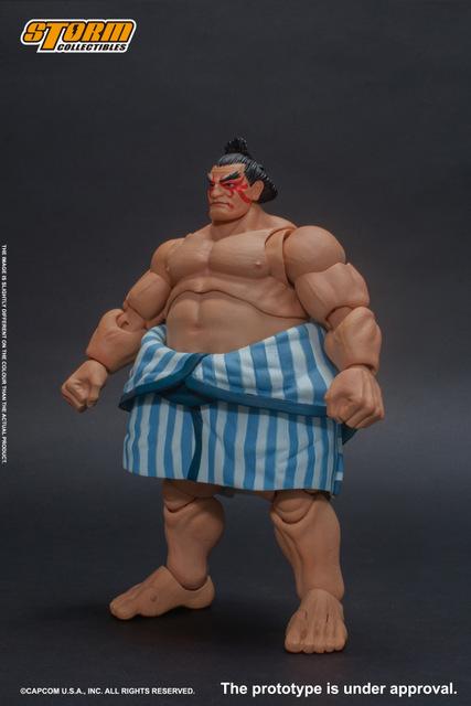 storm collectibles street fighter v - e. honda nostalgia costume figure - left side