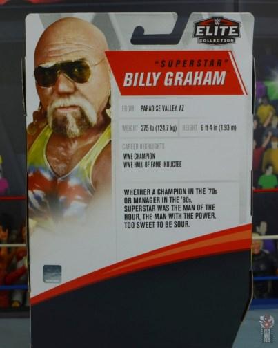wwe elite 78 superstar billy graham figure review - package bio