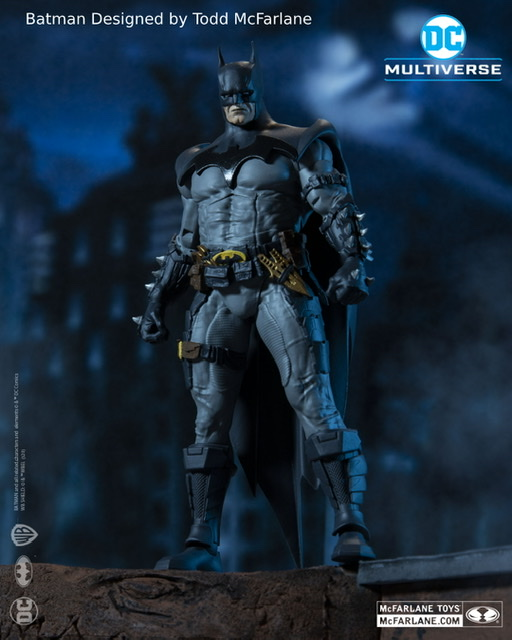 Todd McFarlane designed Batman front