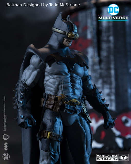 Todd McFarlane designed Batman side