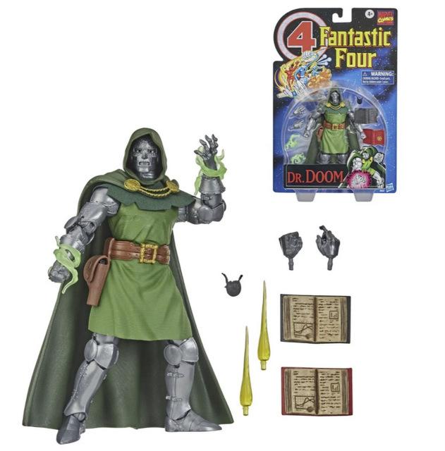 Fantastic Four Marvel Legends Series 6-Inch Doctor Doom figure -accessories