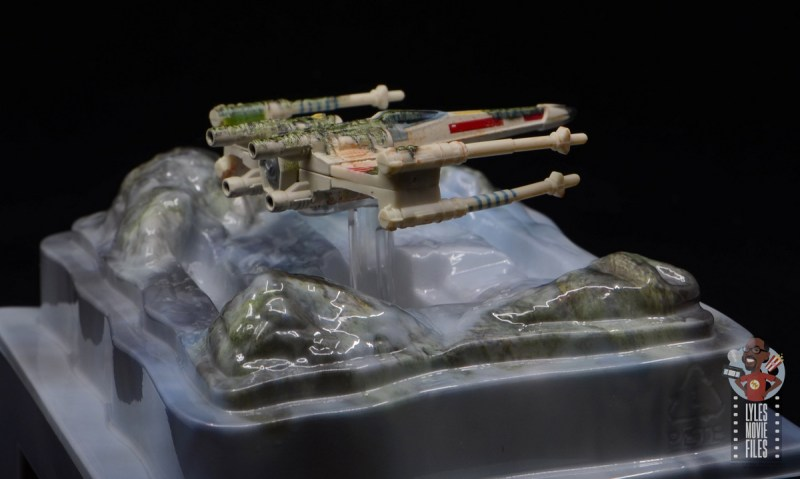 Hot Wheels The Empire Strikes Back X-Wing Dagobah swamp review - rear right side