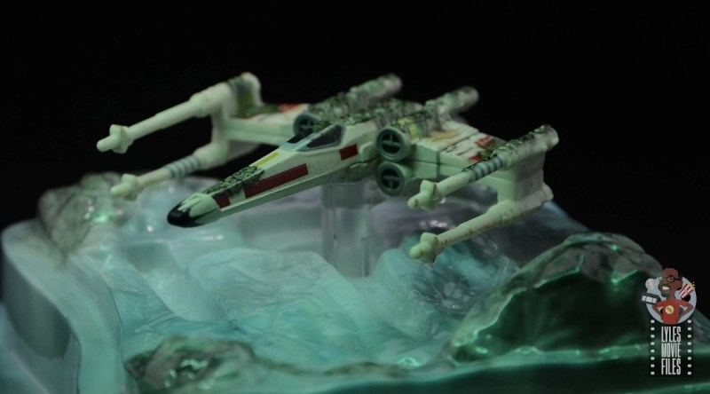 Hot Wheels The Empire Strikes Back X-Wing Dagobah swamp review - top side