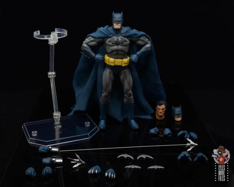 mafex hush batman figure review - accessories