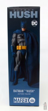 mafex hush batman figure review -package right side
