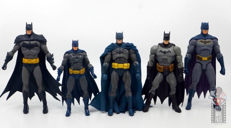mafex hush batman figure review -with mcfarlane, dc icons, dc classics and dc essentials batman