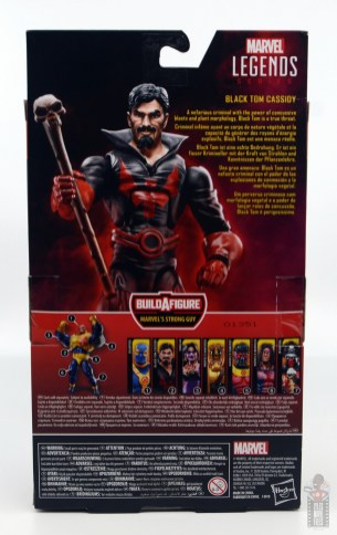 marvel legends black tom cassidy figure review - package rear