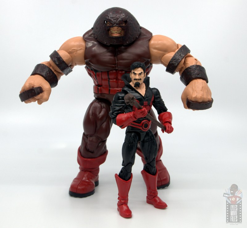 marvel legends black tom cassidy figure review - with juggernaut