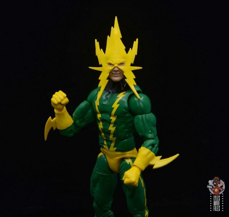 marvel legends electro figure review -close up